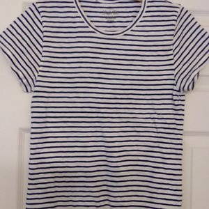J Crew Factory Stripe Studio Tee Size Medium
